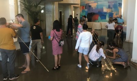 Team building with AX Group employees